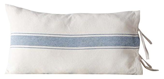 grain sack pillows with ties