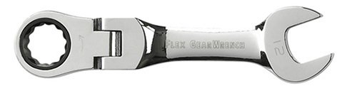 (GEARWRENCH 9553 12mm Stubby Flex-Head Combination Ratcheting Wrench)