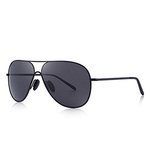 Black hombres gafas UV polarizadas anteojos sol clásicas protección piloto C01 100 Gafas TIANLIANG04 macho con de C01 Negro Los 5RqfnxwU