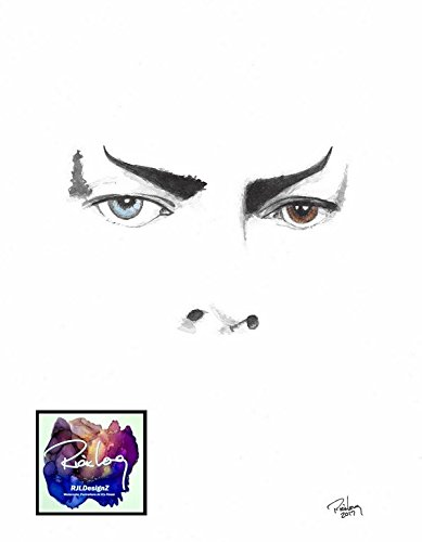 """HAND DRAWN Original Artist 9"""" x 11"""" Watercolor Portrait""""Jareth The Goblin King"""" featuring LEGEND David Bowie ©2017 by Rick Long. UNFRAMED LIMITED EDITION!!"""