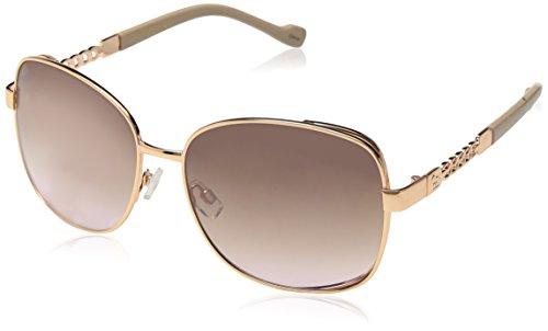 Jessica Simpson Women's J5512 Rgdnd Non-polarized Iridium Round Sunglasses Rose Gold Nude 65 Mm