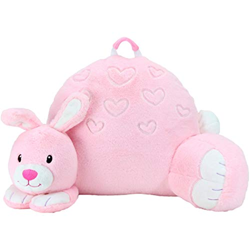 Sweet Seats Animal Adventure BunnyReading CushionLightweight & Portable Bed Rest PillowPerfect for Ages 2+
