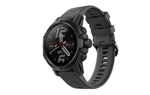 (Coros VERTIX GPS Adventure Watch with Pulse Oximeter,Titanium Bazel/Cover with Sapphire Glass (DLC Coating),24/7 Blood Oxygen Monitoring, Trainer and Ultra-Durable Battery Life (Dark Rock))