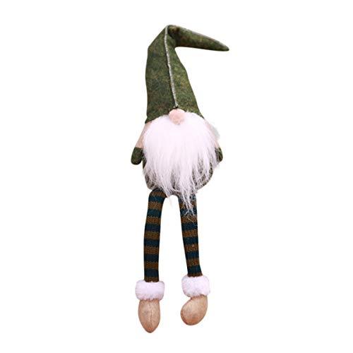 Thoughtful Shopper (Awesome Shopper Swedish Lucky Gnome Tomte Santa Plush Toys Doll Kids Home Decor (Green))