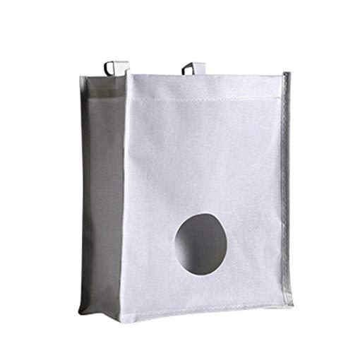 Ktyssp Reusable Kitchen Storage Bag Holder Wall Mount Vegetable Hanging Organizer (White)