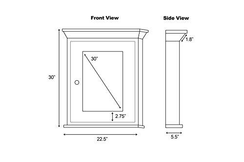 36-in. W x 31.5-in. H Modern Plywood-Veneer Wood Mirror In Walnut by American Imaginations (Image #1)