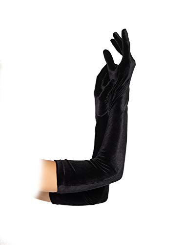 Leg Avenue Women's Velvet Opera Length Gloves, Black, One Size