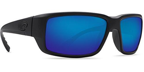 Costa Del Mar Fantail Sunglasses, Blackout, Blue Mirror 580 Glass Lens ()