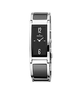 Kronos - Ceramic Black 933.8.52 - Reloj de seÑora de cuarzo - brazalete de cerÁmica - color esfera: negra
