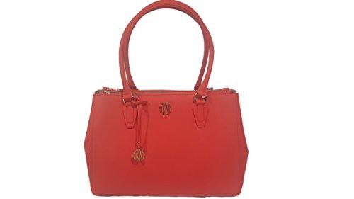 Dkny Red Leather - DKNY Bryant Park Saffiano leather Red Large Satchel shoulder handbag