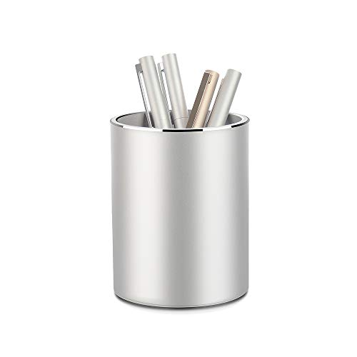 Metal Pencil and Pen Holder Vaydeer Round Aluminum Desktop Organizer and Cup Storage Box for...