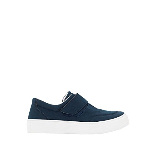 La Redoute Collections Big Boys Low Top Trainers With Wide Touch 'N' Close Tab Blue Size 36 by La Redoute
