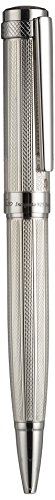 Sterling Silver Guilloche - Xezo Incognito 925 Solid Sterling Silver Weighty Twist-Action Ballpoint Pen, Diamond-Cut Engraved (Incognito 925 Sterling Silver B)