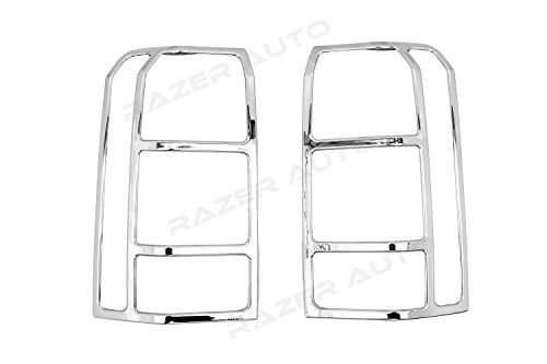 (Razer Auto Chrome Tail Light Bezel Trim Cover for 2007-2014 Jeep Patriot )