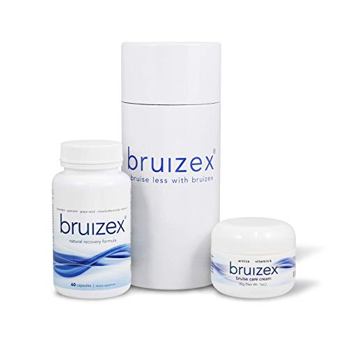 (BRUIZEX Bruising Relief Kit | Anti-Bruising Supplement and Bruise Cream with Healing Arnica and Vitamin K | Contains Bromelain Quercetin | Trauma, Bruising and Swelling Surgery Supplements)