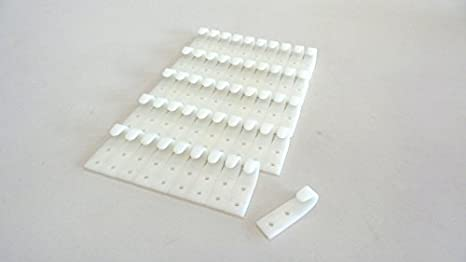Planenhaken 5 x Flachhaken Kunststoff Grau