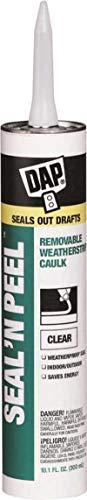 Dap 18324 Seal N' Peel Removable Weatherstrip Caulk, Clear, 10 oz - 441101 (Dap 18354 Seal N Peel Removable Weatherstrip Caulk)