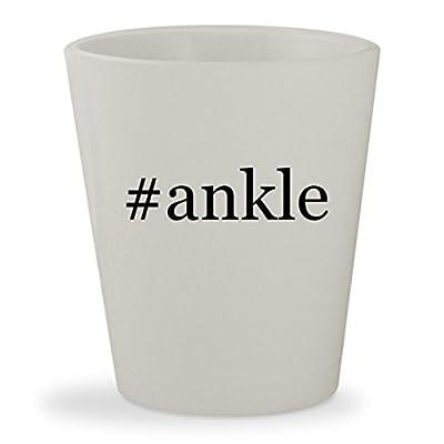 #ankle - White Hashtag Ceramic 1.5oz Shot Glass
