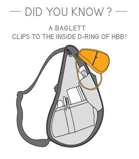 AmeriBag Microfiber Baglett Shoulder Bag,Navy by AmeriBag (Image #3)