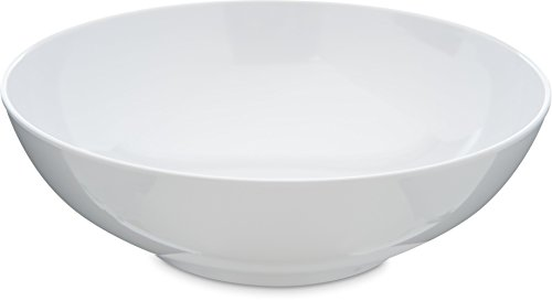 Carlisle 4381302 Epicure Melamine Salad / Serving Bowl, 40 Oz., White (Set of 12) ()