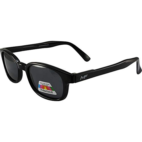 - MotoFrames MF Lockdown Motorcycle Riding Sunglasses Black Frames Polarized Smoke Lenses