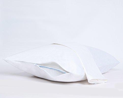 EFFORTLESS BEDDING Luxury 100% Cotton Pillow Protector, Standard/Queen, 2 Piece