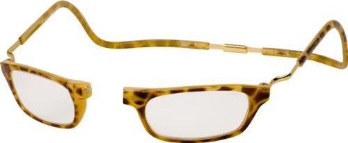 Clic Reader XXL Single Vision Half Frame Designer Reading Glasses, Dark Tortoise, +1.75