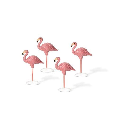 Department 56 Village Flamingos, Set of 4