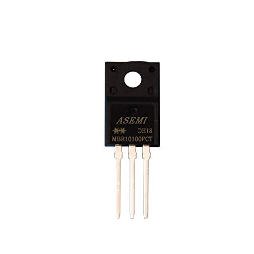 ASEMI (Pack of 10pcs) MBR10100FCT/MBRF10100CT Schottky Barrier Diode ITO-220AB 10A100V for SMPS