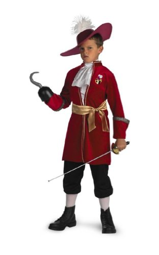 Captain Hook Halloween Costumes Child (Captain Hook Costume - Medium)