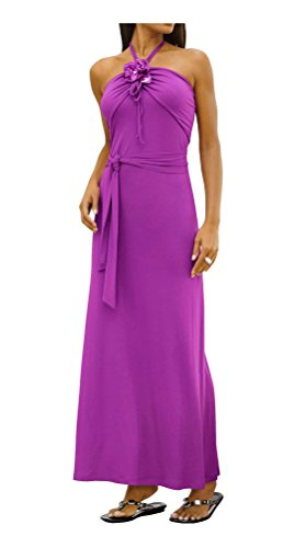 violeta Alba Moda espalda las violeta mujeres Vestido sin de EqagpX