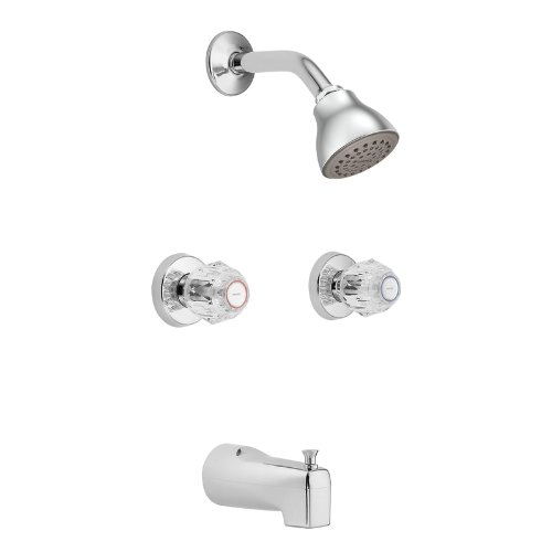 delicate Moen 2919 Chateau Chrome Standard Tub and Shower