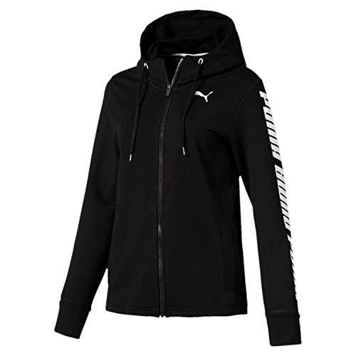 Modern Black Nero Felpa Sports Puma Donna cotton Hooded 8wqdc60