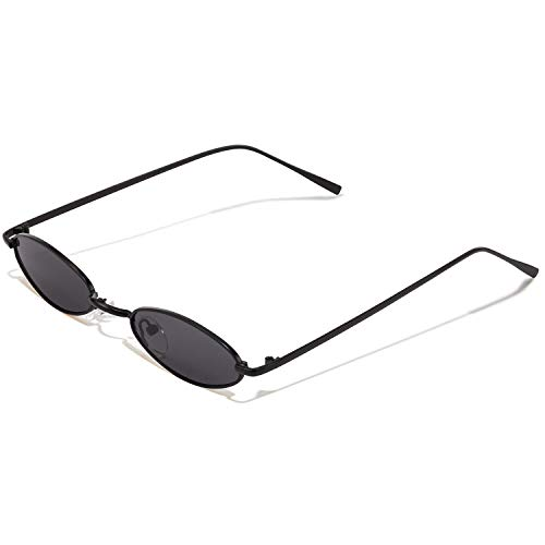 - Vintage Oval Sunglasses For Women - Feirdio Small Metal Frame Candy Color 2265 (black, 2.05)