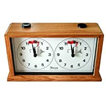 The INSA Merchanical Chess Timer Clock - Light Wood