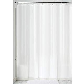 "iDesign Waterproof PEVA Bathroom Shower Curtain Liner - 72"" x 72"", White"