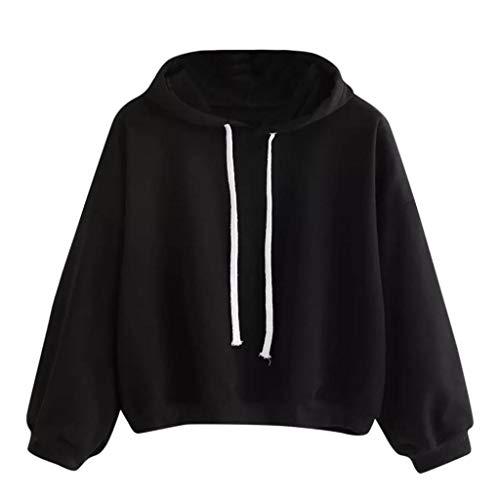Blouse Sweat Hiver Femmes Automne Chemise Femme Solide Noir Outwear Capuche Tops Longue Trydoit Manche ZqW8aHnc8
