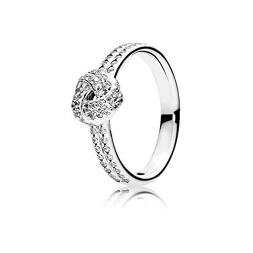 PANDORA Sparkling Love Knot Ring, Clear CZ 190997CZ-52 EU 6 US