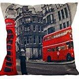 - KarilShop Red Phone Booths Linen Throw Pillow Case Cushion Cover Home Sofa Decorative 18 X 18 Inch.