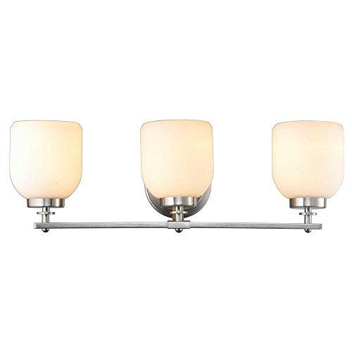 (World Imports Lighting  61033 Kelly 3-Light Brushed Nickel Bath)