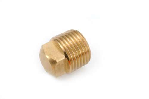 Anderson Metals 06109 Brass Pipe Fitting, Plug Cored Square Head, 3/4