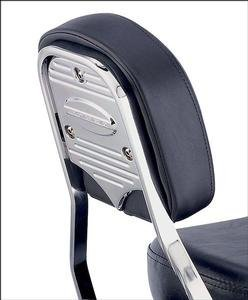 Cobra Standard Backrest Insert W/Logo Fluted Billet Chrome