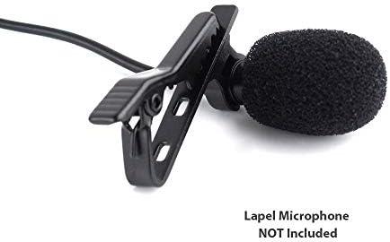 Mini micrófono de condensador de solapa de lavalier profesional ...