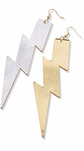 Womens Be Your Own Superhero Lightning Bolt Dangle Earrings Costume (Heroes And Villains Costume Ideas Female)
