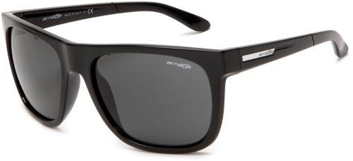 Arnette Men's Fire Drill Sunglasses,Gloss Black Frame/Grey Lens,One - Drill Fire Arnette