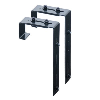 (Adjustable Deck Rail Brackets Novelty accessorie (Set of 2) )