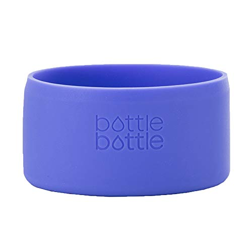 bottlebottle Protective Silicone Sleeve for Hydro Flask, Portable Travel Pet Bowl for Dog Cat Food Water Feeding, BPA Free Anti-Slip Bottom Cover Cap for Stainless Steel Water Bottle, Dishwasher Safe