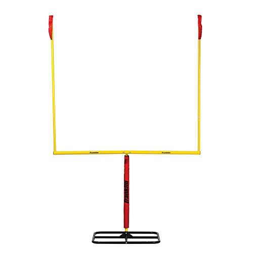 Franklin Sports Authentic Steel Football Goal Post 8.5' x 5.5' - Post for Kids - Football Goal Post Set - Kicking Field Goals - Youth Football Set - Portable Football Goal Post (Renewed)]()