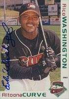 Rico Washington Altoona Curve - Pirates Affiliate 2002 Grandstand Autographed Card - Minor League Card. This item comes with a certificate of authenticity from Autograph-Sports. Autographed