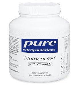 Pur Encapsulations éléments nutritifs 950 avec de la vitamine K - 180 capsules